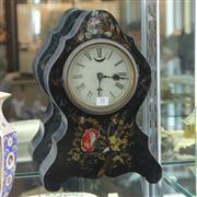 Sale 8351 - Lot 31 - American Mother of Pearl Inlaid Handpainted Mantle Clock