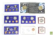 Sale 8466 - Lot 18 - Australian Coins; 2 x $10 Silver XII Commonwealth Games 1982, 2 x $5 1992 Year of Space, 5 x Proof Coin Sets (72,  73, 74, 75, and 1...