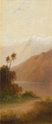 Sale 8475 - Lot 559 - Valentine Delawarr (1852 - 1918) - Track to the River 42 x 17.5cm