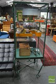 Sale 8499 - Lot 1657 - Glass Cabinet on Stand