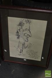 Sale 8537 - Lot 2119 - T. Rafty Bill Rothery & Cathy Pacific Golf Party, Ink, 45x33cm