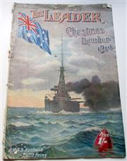 Sale 8639 - Lot 72 - The Leader Christmas Number (special edition) 1914 showing HMAS Australia on the front cover, a pictorial magazine of Australia incl...