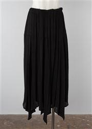 Sale 8740F - Lot 215 - An Issey Miyake black micropleated skirt with handkerchief hem, size small