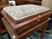 Sale 8834 - Lot 1062 - Tapestry Top Foot Stool