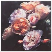 Sale 9070H - Lot 120 - A floral photographic print on canvas, height including frame 101cm x 101cm