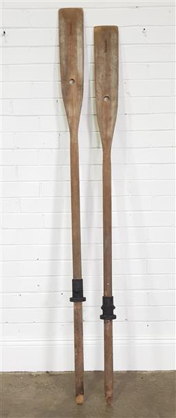Sale 9255 - Lot 1463 - Pair of timber oars (190cm)