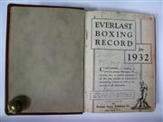 Sale 8125 - Lot 32 - Everlast Boxing Records 1932-1934, three volumes rebound without original covers. (3)