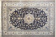 Sale 8213C - Lot 73 - Persian Nain Silk Inlaid 243cm x 360cm