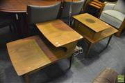 Sale 8350 - Lot 1036 - Pair of Maple Sectional Side Tables