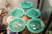 Sale 8365 - Lot 65 - Wedgwood Etruria Barlaston Set of Seven Cabbage Plates