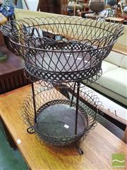 Sale 8447 - Lot 1065 - Small Metal 2 Tier basket