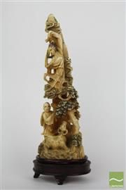 Sale 8481 - Lot 29 - Chinese Carved Ivory Figure Group