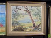 Sale 8483 - Lot 2048 - S. Walton, Lake Scene, oil on canvas, 60 x 50cm, signed lower left
