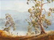 Sale 8497A - Lot 5042 - Patricia Murphy (active 1980s) - The Overseer - McLean River 44.5 x 60cm