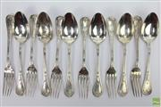 Sale 8630 - Lot 72 - French 950 Silver Standard Set Of Spoons and Forks
