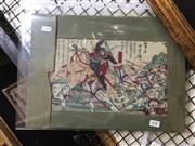 Sale 8771 - Lot 2047 - Sadnobu - Battle Scene 24.5 x 36cm