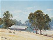 Sale 8858A - Lot 5060 - Leonard Long (1911 - 2013) - In the Capertee Valley, NSW 1983 14 x 19cm