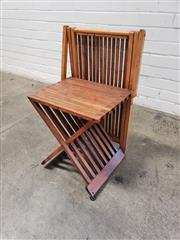 Sale 9080 - Lot 1058 - Vintage Slatted Timber Chair, H71 x W42 x D35cm -