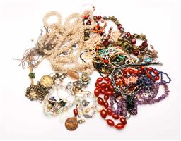 Sale 9110 - Lot 357 - Silver, Gems Bead and Costume Jewellery