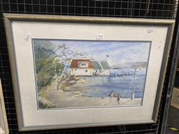 Sale 9159 - Lot 2022 - Dorathy Hales, East Esplanade Manly, Watercolour, Frame: 47 x 62, signed lower right -