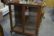 Sale 8031 - Lot 1068 - Timber Framed Display Cabinet Raised on Cabriole Legs