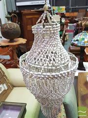 Sale 8447 - Lot 1099 - Macrame Light Fitting