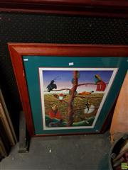 Sale 8609 - Lot 2068 - Artist Unknown - Reflections on Paradise 109 x 83cm (frame size)