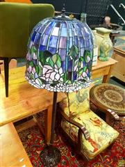 Sale 8648 - Lot 1026 - Leadlight Shade Standard Lamp