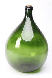 Sale 8701 - Lot 5 - Green Glass 17L Demijohn (H:36cm)