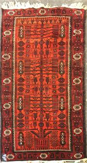 Sale 8740 - Lot 1589 - Orange and Red Tribal Rug (204 x 96cm)