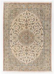 Sale 8770C - Lot 72 - A Persian Tabriz Wool And Silk Inlaid Pile, 280 x 195cm