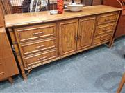 Sale 8822 - Lot 1015 - Dixie Aloha Sideboard with Six Drawers & Two Central Doors (H: 82 W: 183 D: 49cm)