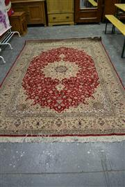 Sale 7987A - Lot 1386 - Kashan Carpet with Central Medallion on Red Field (204 x 300cm)