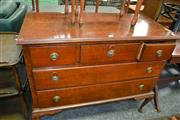 Sale 8115 - Lot 1430 - 5 Drawer Chest Raised on cabriole Legs