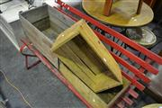 Sale 8134 - Lot 1085 - Three Rustic Timber Crates