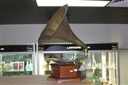 Sale 8283 - Lot 86 - His Masters Voice Gramophone (crank missing)