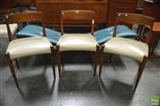 Sale 8338 - Lot 1116 - Set of Six T. H. Brown Dining Chairs