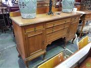 Sale 8566 - Lot 1314 - Carved Timber Sideboard with Five Drawers & Two Doors on Cabriole Legs (180)