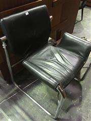Sale 8643 - Lot 1085 - Metal Framed Leather Armchair