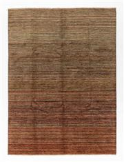 Sale 8770C - Lot 88 - A Striped Afghan Chobi Naturally Dyed In Hand Spun Wool, Very Suitable To Australian Interiors, 239 x 177cm