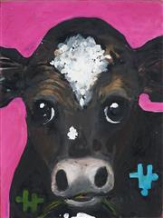 Sale 8945 - Lot 2031 - Eddi Kewley - Crazy Cow, Sorry Cow 40 x 30 cm (total: 40 x 30 x 4 cm)