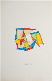 Sale 8991A - Lot 5062 - Lyndon Dadswell (1908-1986) (2 works) - Studies for Sculpture no.104 & no.105, 1976 33 x 20.5 cm ; 25.5 x 20 cm