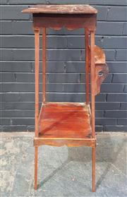 Sale 8979 - Lot 1030 - Timber Plant Stand (H:107 W:34 D:34cm)