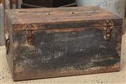 Sale 9060H - Lot 85 - A metal ammunition trunk height 32 x 51 x 38cm