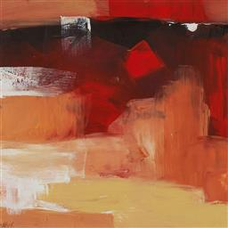 Sale 9154JM - Lot 5043 - CHERYL CUSICK Abstract I acrylic on paper 39 x 39 cm (frame: 81 x 75 x 2 cm) signed lower right