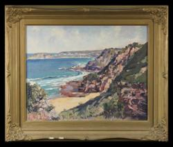 Sale 7923 - Lot 525 - Alan Grieve - Coastal Scene 30 x 37cm