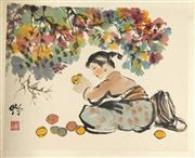 Sale 8153 - Lot 9 - Attributed to Cheng Shifa (1921-2007) Chinese Artists Album