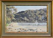 Sale 8325A - Lot 97 - Christine Hill (XX) - Careel Bay 29.5 x 44.5cm