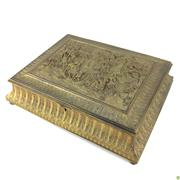 Sale 8562R - Lot 153 - Ornately Decorated Gilt Bronze Lidded Container (W: 34cm)