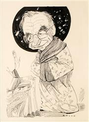 Sale 8631 - Lot 2030 - Rocco Fazzari (1959 - ) - Rupert Murdoch as Celestial Mandarin 33 x 24cm